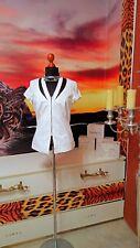 ALBA MODA GR.38 Damen Sommer Blazer Bluse weiß unterfüttert -women's jacket