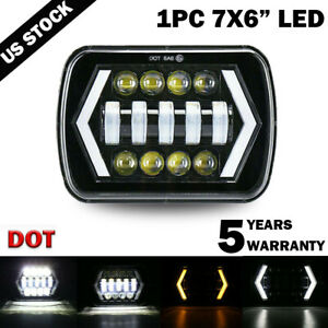 "7x6"" LED Headlight Hi-Lo Halo DRL For Chevy Express Cargo Van 1500 2500 3500"