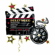HOLLYWOOD PARTY THEME VIP CLAPBOARD SUPERSHAPE FOIL HELIUM BALLOON CLAPPERBOARD