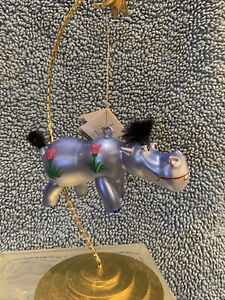 de carlini christmas ornaments Hippo Hippopotamus Handblown Italian Glass