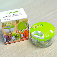 NEW Manual Food Processor Shredder Vegetable Meat Chopper Slicer Mincer Grinder