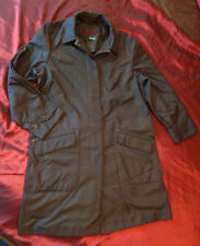 Ralph Lauren Black Trench Coat Raincoat Fully Lined Size Women's M