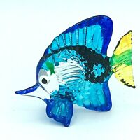 Blown Glass Art Fish Decorative Figurine Gift Collectible Handcrafted Sea Animal