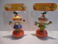 Solar Dancers Boy & Girl Scarecrow on Pumpkin Halloween Fall Autumn Harvest NEW