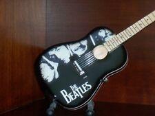 Mini Acoustic Guitar BEATLES LENNON MCCARTNEY TRIBUTE Memorabilia ART Gift