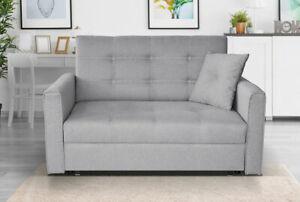 Sofa Benjamin II Ausziehbares Schlafsofa mit Bettkasten Praktisch Couch M24