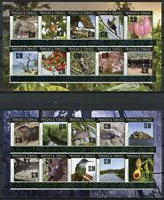 Trinidad & Tobago Birds on Stamps 2019 MNH London 2010 OVPT Animals 2x 10v M/S