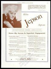 1936 Helen Jepson photo opera recital Usa tour trade booking ad