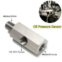 1/8''NPT Female To M12x1.5 Male Oil Fuel Gauge Pressure Sensor Tee Pump Adapter