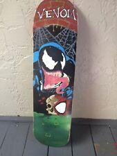 Hand Painted Skateboard Venom - White Black Griptape