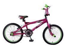 "Kent Trouble Maker 20"" Wheel Freestyler BMX Bike 360 Gyro & Pegs Magenta & Green"