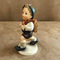 Hummel School boy Figurine Goebel Germany 82 walking with backpack / 0 vintage