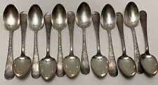 12 Antique Lorne Teaspoons Wilcox International Silverplate Art Nouveau Floral