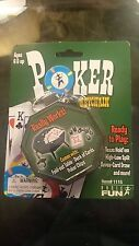 POKER Fold-out Table Game Keychain Keyring Miniature Card Retired NEW Basic Fun