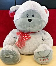 """Valentines I Love You Grey Bear 15"""" Soft Toy By Halsall"""