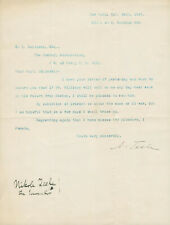 Nikola Tesla Signed Autographed Letter to Edmund Zalinski 1897 Great Provenance!