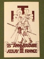 SCOUTS DE FRANCE Pierre JOUBERT Carte postale 1945 25ème anniversaire