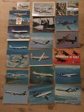 19 Postcards -Brooklands Museum.Lufthansa B727,DC10,A300.Boeing 747...