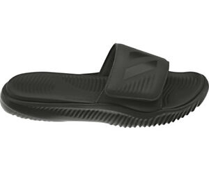 Adidas Alphabounce All Black Slides Athletic H&L Sandal B41720 Mens Sizes 10-13