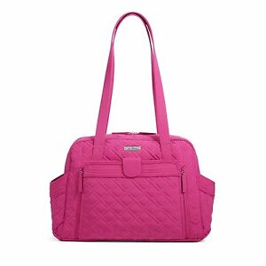 Vera Bradley Stroll Around Baby Bag Fuchsia Pink Infant Girl Diaper Bag NEW