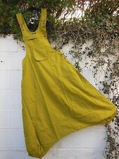 QUIRKY HAREM PARACHUTE DUNGAREES JUMPSUIT LIME S/M  BNWT ETHNIC HIPPY BOHO ARTY