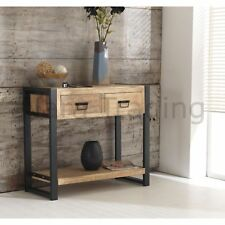 Harbour Indian Reclaimed Wood And Metal Hallway Furniture Console Hall Table