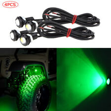 4pcs Waterproof LED Rock Light ATV SUV Off-Road Truck Underbody Trail Green