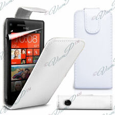Cover Shell Case Pouch Leatherette Flap white for HTC Windows Phone 8X