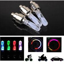 2PCS LED Flash Tyre Wheel Valve Cap Light Car Bike Bicycle Motorbicycle Lamp DH