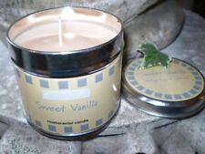 FRAGRANT SCENTED CANDLE TIN, VANILLA ICE CREAM,NATURAL WAX