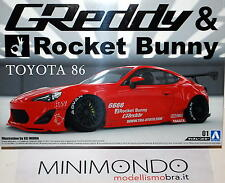 KIT TOYOTA 86 GREDDY & ROCKET BUNNY SCION FR-S GT86 1/24 AOSHIMA 05093 050934