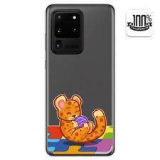 Funda Gel Transparente para Samsung Galaxy S20 Ultra diseño Leopardo Dibujos