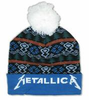 Metallica Holiday Blue Knit Beanie Winter Hat New Official