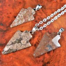 Arrowhead Necklace - Petite Brown Jasper Pendant Arrow Charm (Y14)
