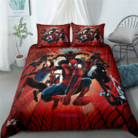 Red Doona/Duvet/Quilt Cover Single/Double/Queen/King Size Bed Linen Spiderman