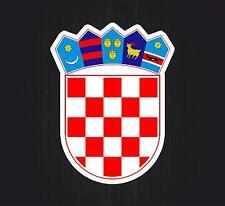 Adesivi adesivo moto auto sticker bandiera stemma nazionali blasone croazia