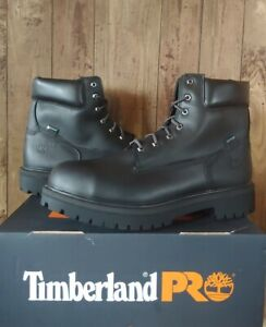 """Timberland PRO Mens 6"""" Direct Attach Work Boots 15 Black 26038 Steel Toe $165"""