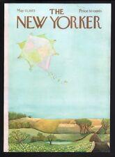 New Yorker magazine COVER ONLY  May 13 1972-Karasz art-Kite flying spring