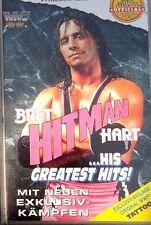WWF Bret Hitman Hart Greatest Hits ORIG VHS WWE Wrestling