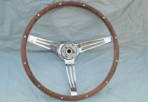 Vintage Carroll Shelby Accessory Real Wood Steering Wheel 1960's Muscle Car RARE