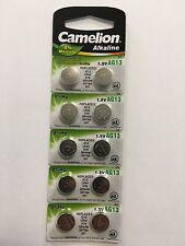 10x Knopfzelle Uhrenbatterie 1.5V Camelion Batterien AG13 NEUE VERSION LR44 0%HG