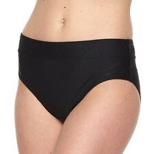Women's Tummy Slimmer Semi High-Waisted Scoop Bottom Black, Size: 16. MSRP $40.