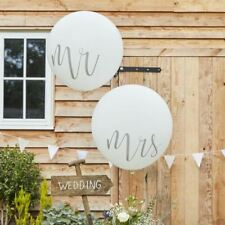 """Giant Mr and Mrs Balloons 36"""""""