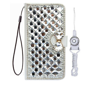 For Sky Devices Bling Magnetic flip Leather slots stand Wallet Case phone cover