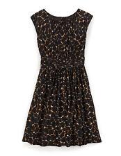 BODEN £129 'Selina' dress leopard print fit flare summer XS UK 6-8 US 2-4