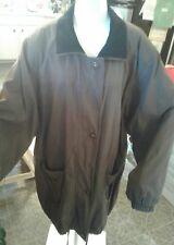 WESTBOUND II Women's Long Brown Jacket sz 2X Zip & Button Drawstring Bottom