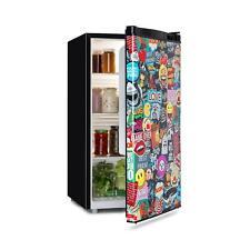 Frigo Réfrigérateur Cuisine 3 niveaux 90 litres classe A+ - design Manga Noir