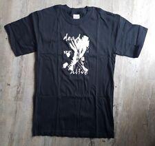 Men's XL DEAD DOMINO Dead or Alive Black Tshirt White Graphic Print NEW