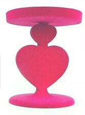 BATH AND BODY WORKS STACKED HEART PEDESTAL 3 WICK CANDLE HOLDER PINK