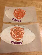 Vintage Clemson Tigers Football Tiger Sticker Label Cloth